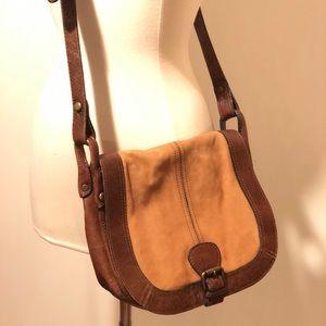 Fossil genuine leather saddle bag purse